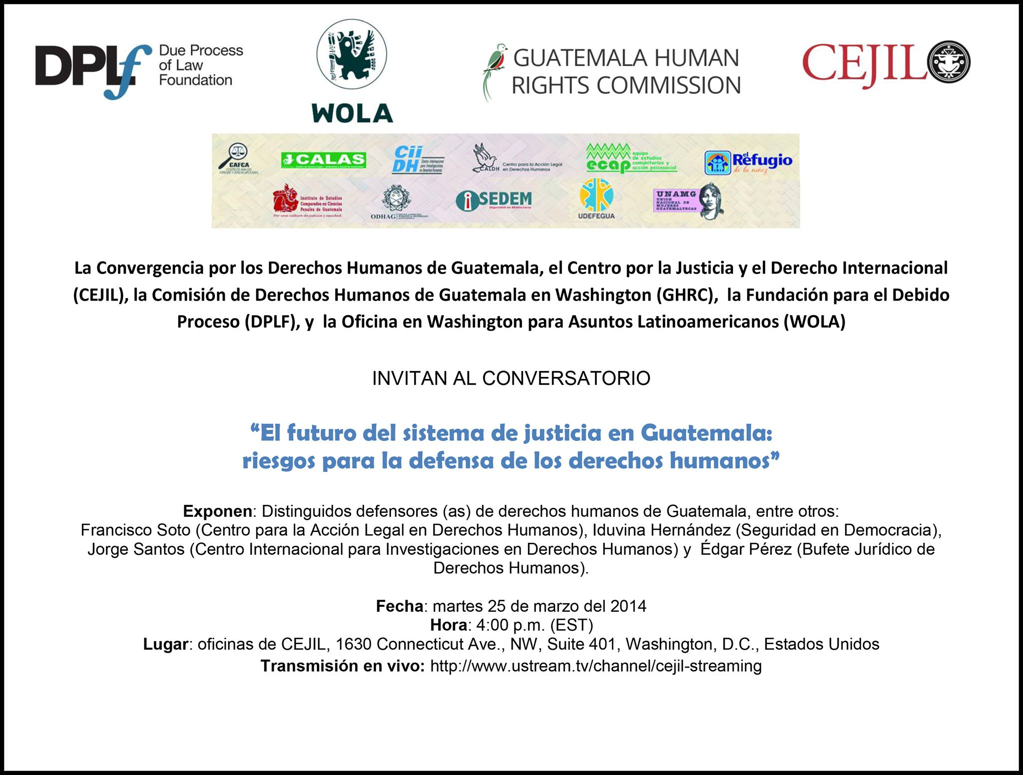Past Events « Guatemala Human Rights Commission